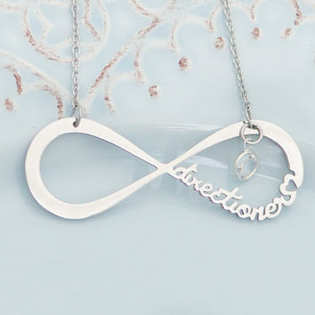One Direction necklace - Directioner - Infinity necklace