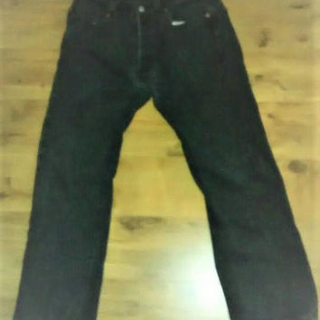 Vintage Levi's 501 34-29 Button Fly Black Stone Wash Pants