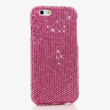 Simple HOT Pink Crystals Design (style 913)