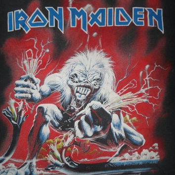 New Year Sale Vintage IRON MAIDEN 1993 Real Live T Shirt Original Heavy Metal Shirt
