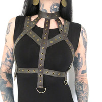 Hell Couture Brown Leather Harness