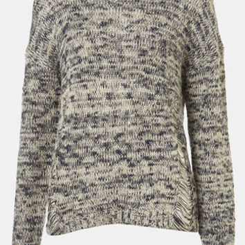 Topshop 'Tweedy' Drop Stitch Sweater | Nordstrom