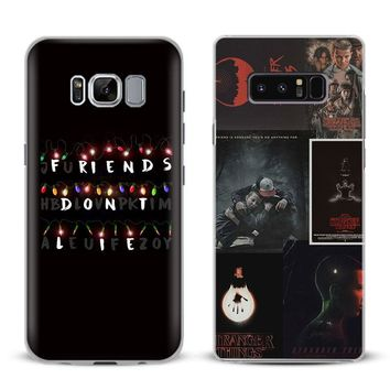 Stranger Things Coque Phone Case For Samsung Galaxy S4 S5 S6 S7 Edge S8 S9 Plus Note 8 2 3 4 5 A5 A7 J5 2016 J7 2017 Cover Shell