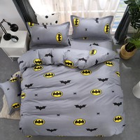 Cartoon Stripe Batman 3/4pcs bedding sets/bed set/bedclothes for kids/bed linen Duvet Cover Bed sheet Pillowcase,twin full queen