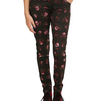 Royal Bones By Tripp Skulls & Roses Skinny Pants