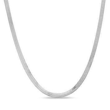 4.5mm Herringbone Chain Necklace in Sterling Silver - Save on Select Styles - Zales