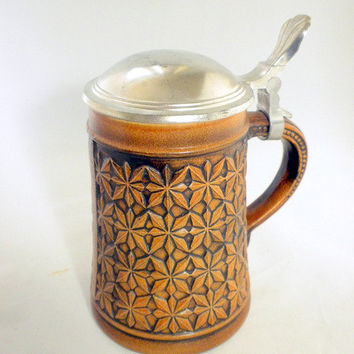 Gerz Stein, Leather Look Stein, Gift for Him, German Beer Stein