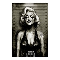 Monroe Mugshot Art Print by Artist Marcus Jones