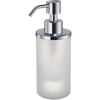 Addition Frosted Glass Small Table Pump Liquid Soap Lotion Dispenser