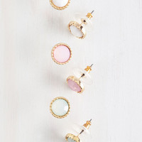 Pastel Pastel Perfection Earring Set by ModCloth