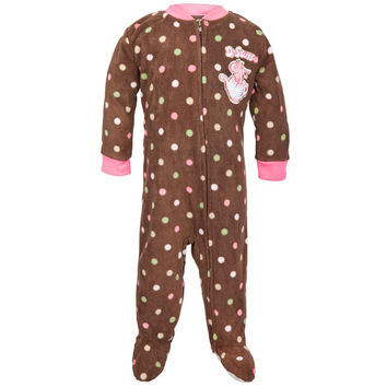 Dr. Seuss - One Fish Two Fish Brown Toddler Foot Pajamas