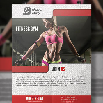 Fitness Gym Flyer Template | Flyer Template | Gym Flyer | Instant Download | PSD Template | Fitness Template