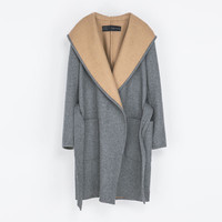 HOODED WOOL COAT - Coats - Woman | ZARA United States