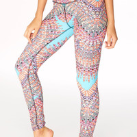 Mara Hoffman || Over the foot legging in skybird turquoise