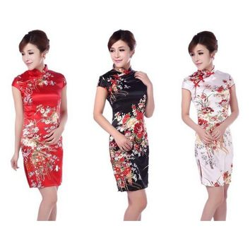 Fashion National Trend Female Tang Suit Cheongsam Vintage Chinese Dress