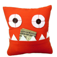Orange Tooth Fairy Pillow by meggiebabe on Etsy