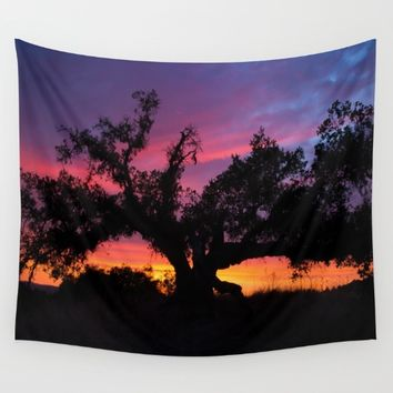 SunseT at the Tree of Knowledge Wall Tapestry by 2sweet4words Designs