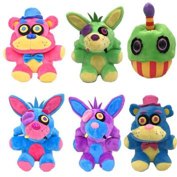 2018 New  At  Nightmare Sister's Location Foxy Freddy Cupcake Neon Blacklight Plush Collectible Doll Toys