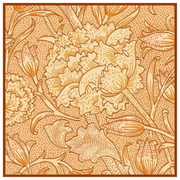 William Morris Wild Orange Tulips Design Counted Cross Stitch or Counted Needlepoint Pattern