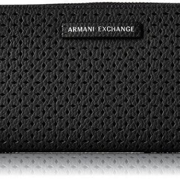 PEAPGQ6 A X Armani Exchange Perforated Pebble Pu Wallet Wallet