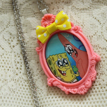 Spongebob Squarepants Necklace - SPONGEBOB & PATRICK - Best Friends Forever
