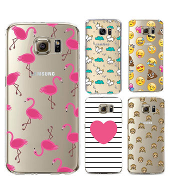 Flamingo Silicone Case For Couqe iPhone 7 Plus 5S 5C SE 6 6S Cover for Samsung Galaxy Grand Prime J3 J5 A3 A5 2016 S5 S6 S7 Edge