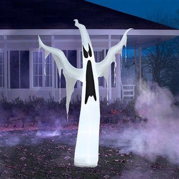 SheilaShrubs.com: Airblown Inflatable Draped Ghost 63801 by Gemmy: Halloween