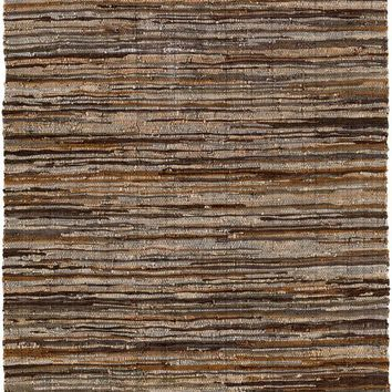 Surya Log Cabin Hides and Leather Brown LGC-1000 Area Rug