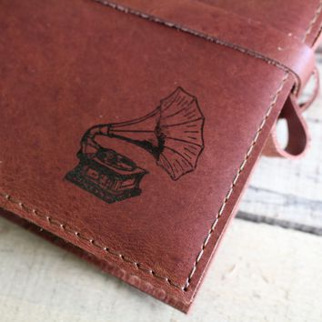 Vintage Phonograph Leather Journal