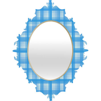 Lisa Argyropoulos Country Plaid Bonnet Blue Baroque Mirror