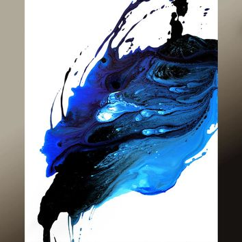Abstract Contemporary Wall Art Print 11x14 by Destiny Womack - When the Last Tear Falls - dWo