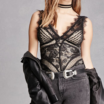 Eyelash Lace Bustier Top