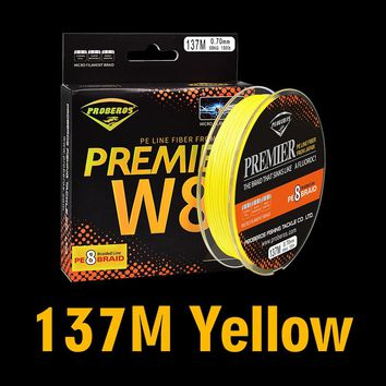 Fishing Line 8 stands Fishline 137M&210M&300M 8 Weaves High Quality Japan Braided Line Wire Available 40LB-120LB PE Line