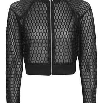Topshop Reclaim Honeycomb Jacket