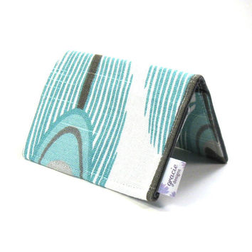 Card Holder Wallet | ID Wallet | Mini Wallet | Credit Card Cases - Aqua Peacock