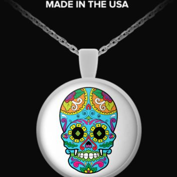Day of The Dead Sugar Skull Necklace 17 sugarskull-necklace17