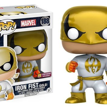 Metallic Iron Fist Pop! Vinyl Figure PX Exclusive