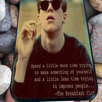 The Breakfast Club,Brian Quotes for iPhone 4/4s, iPhone 5/5S/5C/6, Samsung S3/S4/S5 Unique Case *76*
