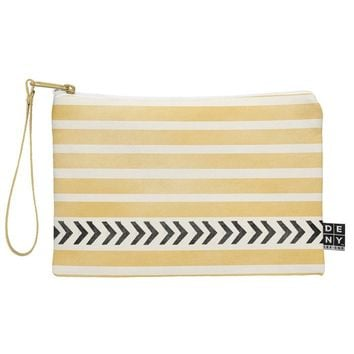 Allyson Johnson Yellow Stripes And Arrows Pouch
