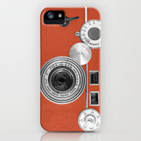 Tangerine Tango retro vintage phone iPhone Case by Wood-n-Images | Society6