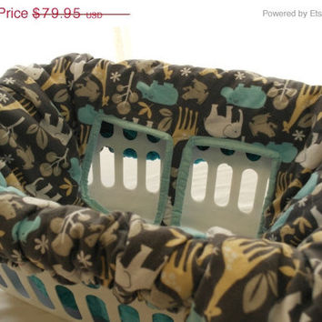 ON SALE Minky Shopping Cart Cover, Reversible Designer Cotton & Minky Cart Cover, High Chair Cover, Car Liner, Boy's Cart Cover, Padded Car