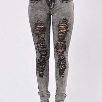 Power Steering Jeans - Charcoal