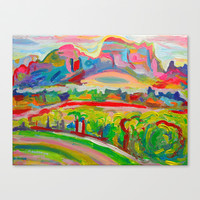 SEDONA HILLS II Stretched Canvas by Morgan Ralston