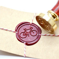 Bicycle Bike Cycling B20 Gold Plated Wax Seal Stamp x 1