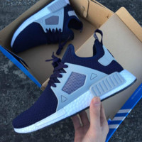 """Adidas"" NMD XR1 Duck Camo Women Men Running Sport Casual Shoes Sneakers Camouflage Navy(White soles )"