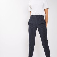 Pinstripe Cigarette Trousers - Pants & Leggings - Clothing