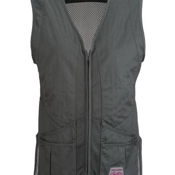 Lightweight Double Barrel Shooting Vest - Charcoal