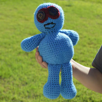Amigurumi Voodoo Doll Handmade Crochet Stuffed Needlecraft Crochet Toys Children Gifts @MystifyGifts Stuffed Toys Voodoo Doll Christmas Gift