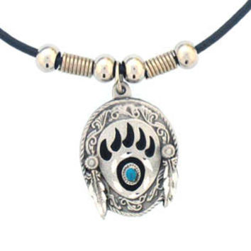 Earth Spirit Necklace - Bear Claw & Stone