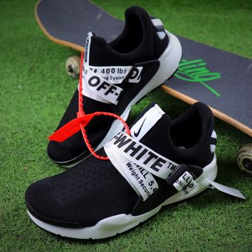Best Online Sale OFF White x Nike Sock Dart OW Black/White Sport Running Shoes Sneaker